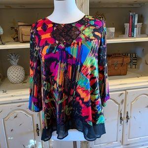 Beautiful high low blouse.